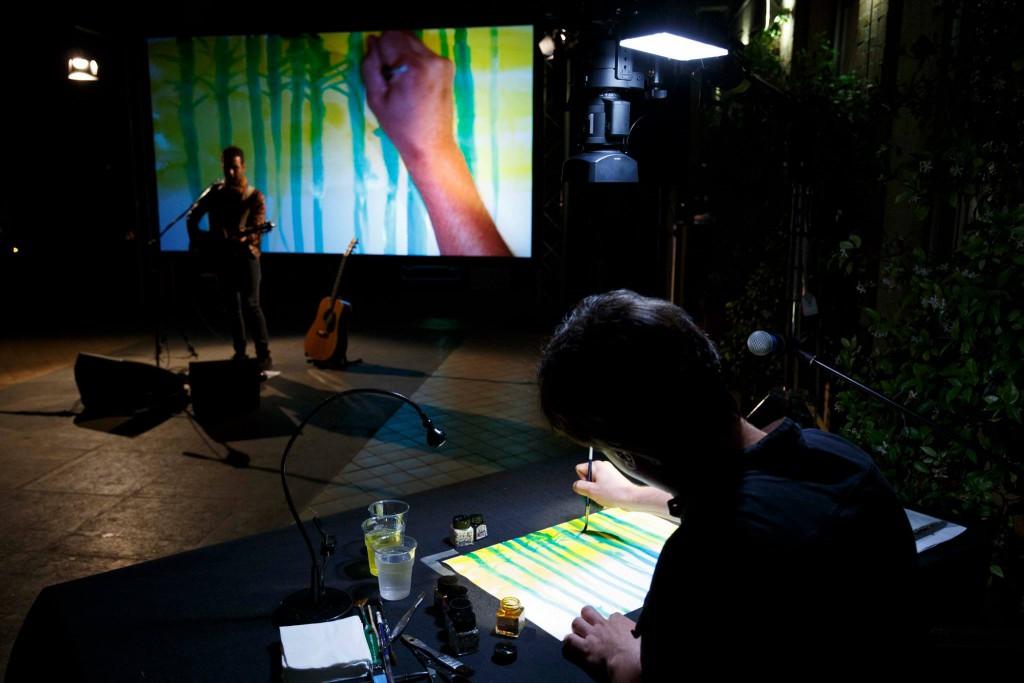 Concerto disegnato di colapesce e Alessandro Baronciani Premio Strega giovani 2016  ©Musacchio & Ianniello — presso CIVITA.
