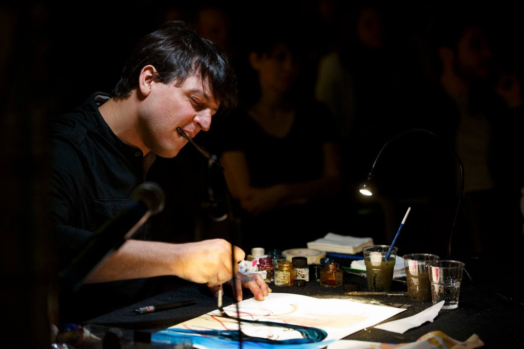 Concerto disegnato di colapesce e Alessandro Baronciani Premio Strega giovani 2016  ©Musacchio & Ianniello