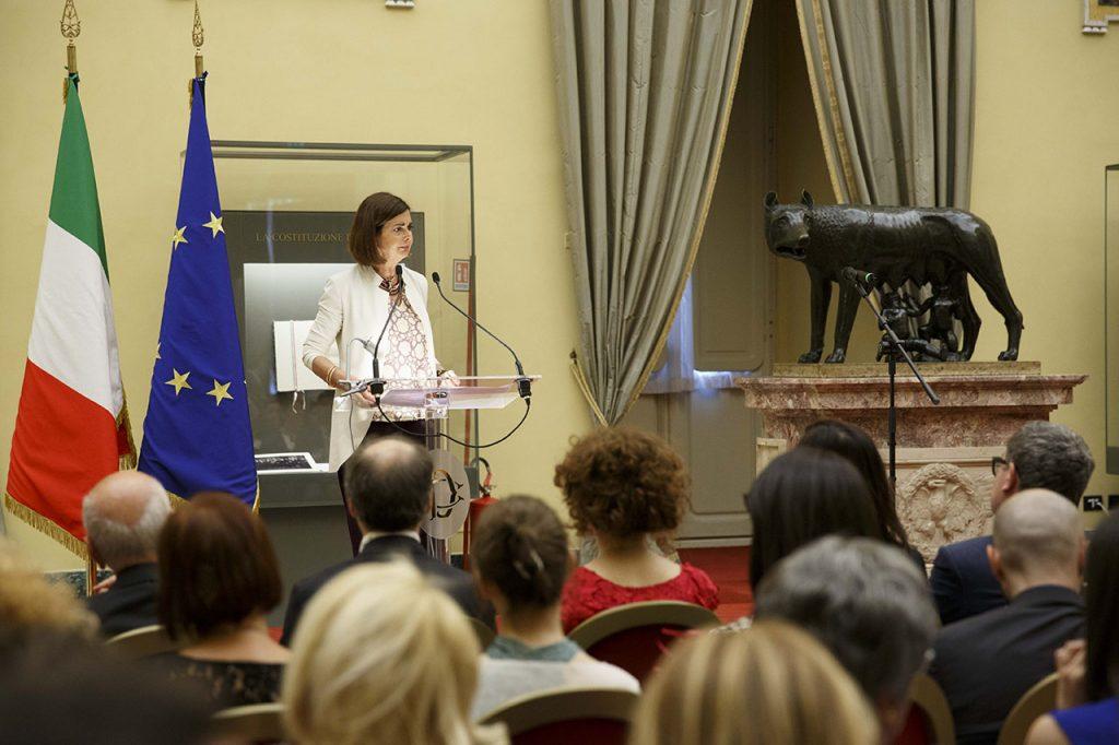 Laura Boldrini presidente della Camera dei Deputati- Roma, Camera dei Deputati 13 06 2017 Premio Strega Giovani a Paolo Cognetti ©Musacchio & Ianniello