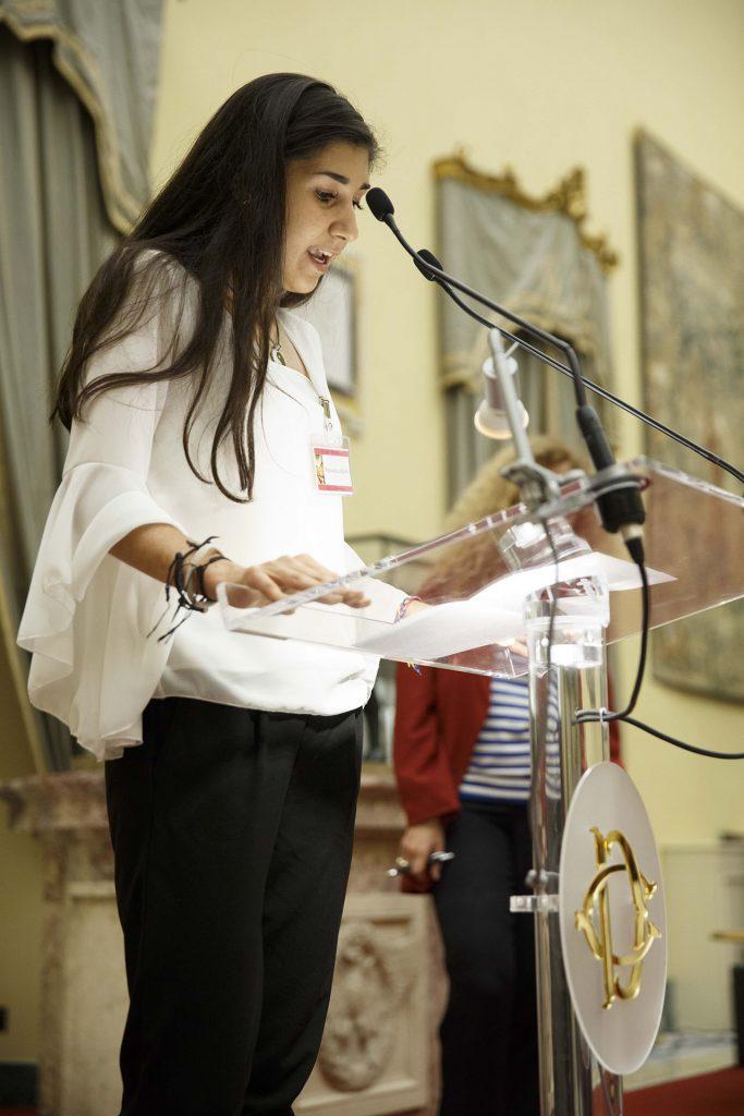 Livia Rinaldi studentessa del Liceo Primo Levi di Roma - Roma, Camera dei Deputati 13 06 2017 Premio Strega Giovani a Paolo Cognetti ©Musacchio & Ianniello