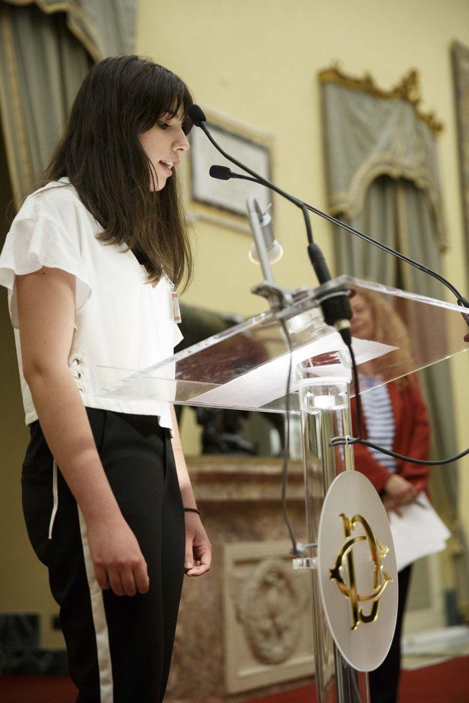 Eva Petrillo del Liceo Virgilio di Avellino - Roma, Camera dei Deputati 13 06 2017 Premio Strega Giovani a Paolo Cognetti ©Musacchio & Ianniello